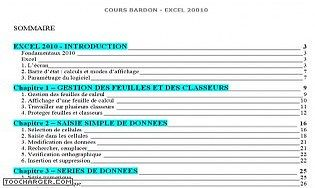 Cours Bardon - Excel 2010