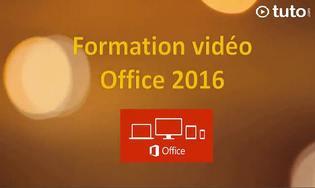 Tuto formation Office 2016
