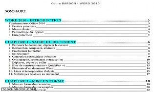 Cours Bardon - Word 2010