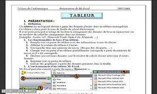 MS Excel  2003 -Cours et travaux pratique