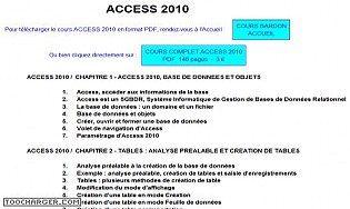 Cours Bardon - Access 2010