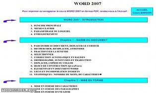 Cours Bardon - Word 2007