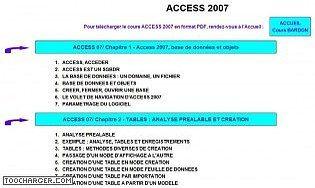 Cours Bardon - Access 2007