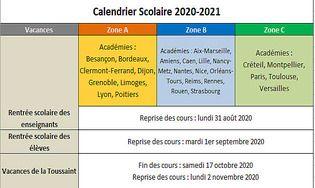 Calendrier Solaire 2021 Calendrier vacances scolaires 2020 2021 : Télécharger gratuitement