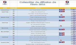 Calendrier de diffusion de l'Euro 2016 : Télécharger gratuitement