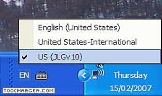 JLG Extended Keyboard Layout for US