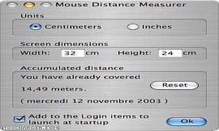 Mouse Distance Measurer