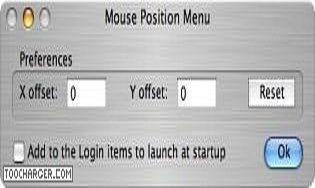 Mouse Position Menu