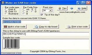 EAN Bar Codes