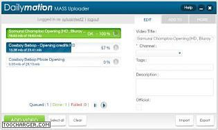 Dailymotion Mass Uploader