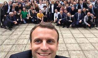 Macron Selfie Generator