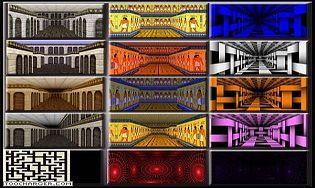 ecran de veille labyrinthe 3d