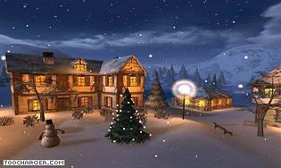 Winter Night 3D Screensaver