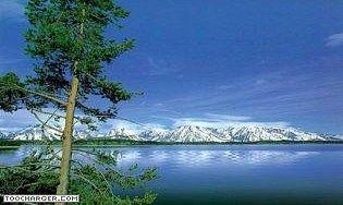 Lac de Montagne 3D. Cet écran de veille animé et sonorisé en 3D est particulièrement réaliste, il vous procurera un moment de rare détente. C'est un paysage naturel : des lacs de montagne animés de mouvements d'eau.