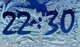 Frost Clock Screensaver