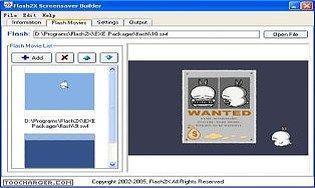 Flash2X Screensaver Builder
