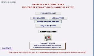 GESTION VACATION ECOLE