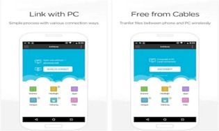AirMore-Transfert des fichiers Android