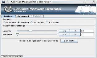 Aconiac Password Generator