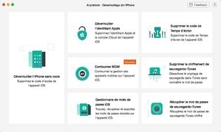 AnyUnlock - Déverrouillage iPhone(Mac)