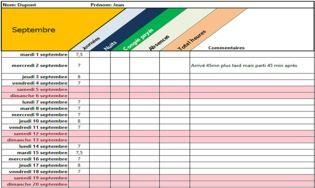 Calcul Des Heures De Travail Excel Télécharger