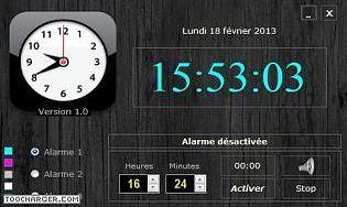 logiciel horloges t l charger des logiciels pour windows bureautique horloges. Black Bedroom Furniture Sets. Home Design Ideas