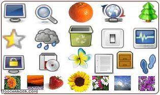 logiciel collection d 39 ic nes t l charger des logiciels pour windows personnalisation de l. Black Bedroom Furniture Sets. Home Design Ideas