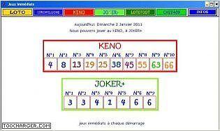 Dernier tirage du keno et numero du joker