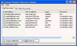 Outlook Password Recovery Master