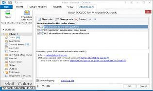 Auto BCC/CC for Microsoft Outlook