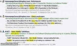 Homepage SearchEngine