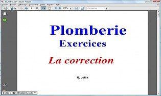 Plomberie exercices, la correction