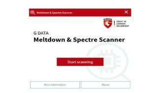 GDATA Meltdown et Spectre Scanner
