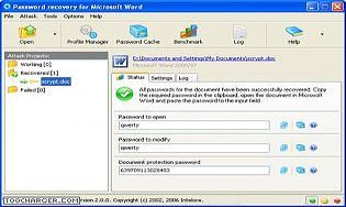 Word Password Recovery Wizard