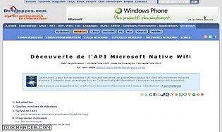 Découverte de l'API Microsoft Native Wifi