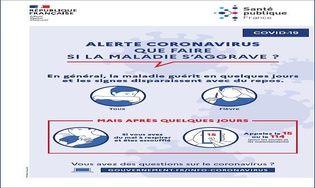 Affiche Coronavirus - Que faire en cas de symptômes graves ?