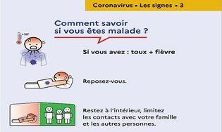 Affiche Coronavirus - Savoir si on est malade