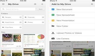Google Drive pour iOS