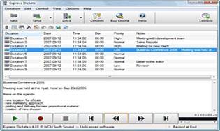 Express Dictate - Logiciel de dictée numérique pour Windows