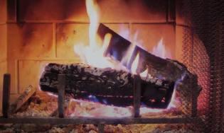 Fond d'écran animé feu de cheminée