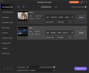 Wondershare UniConverter 12 pour Mac Multimédia