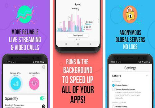 Speedify Android Sécurité & Vie privée