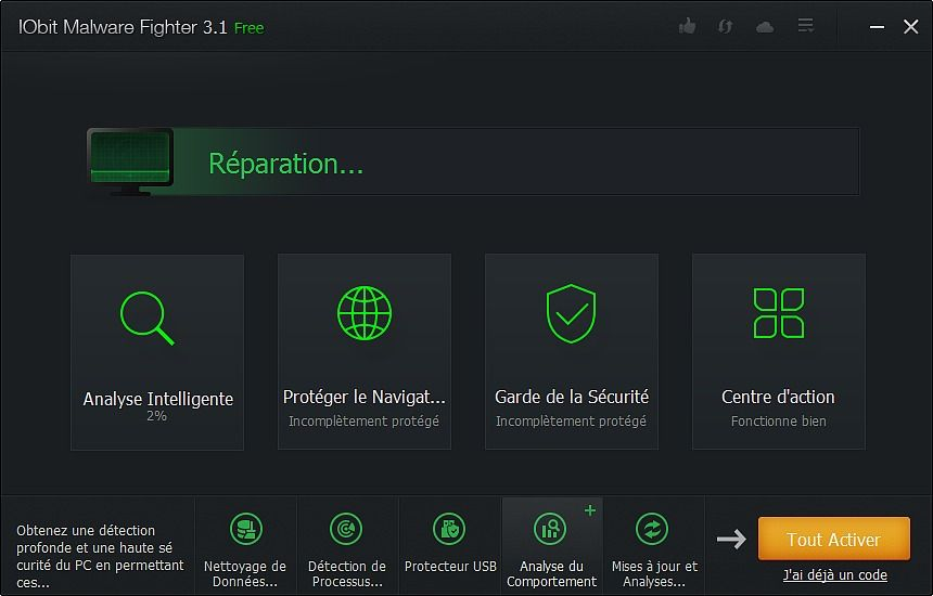 IObit Malware Fighter 5 Sécurité & Vie privée