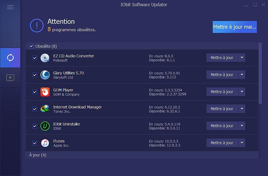 IObit Software Updater Utilitaires