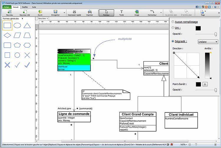 ClickCharts - Logiciel pour diagrammes et organigrammes Bureautique