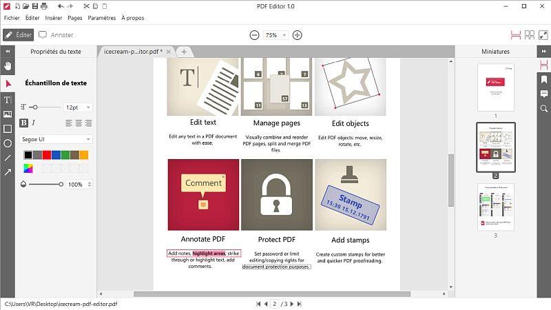 Icecream PDF Editor 1.23 Bureautique