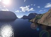 Océan traversant les montagnes rocheuses Fonds d'écran