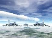 Avions de chasse dans le ciel Fonds d'écran