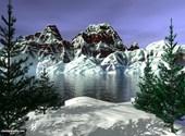 Montagne enneigée Fonds d'écran