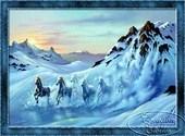 Chevaux  de neige Dessins & Arts divers